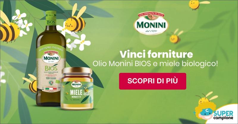 Vinci forniture olio Monini Bios e miele biologico