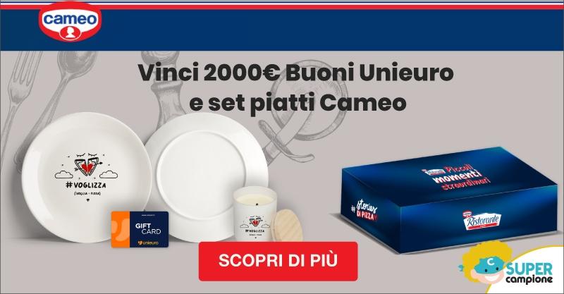 Vinci 2000€ Buoni Unieuro e set tavola con Cameo