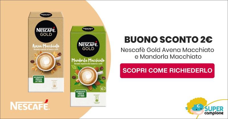 Buono sconto gratis 2€ prodotti Nescafè