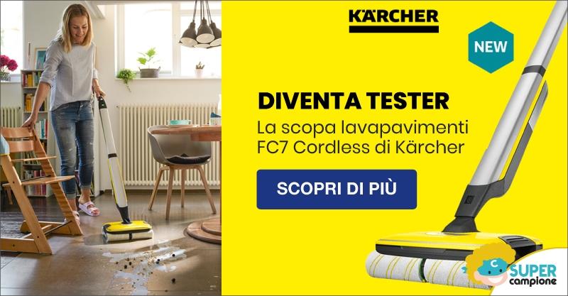 Diventa tester lavapavimenti FC7 Cordless di Kärcher