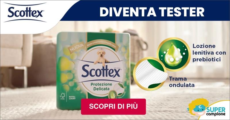 Diventa tester gratis Scottex® Protezione Delicata carta igienica