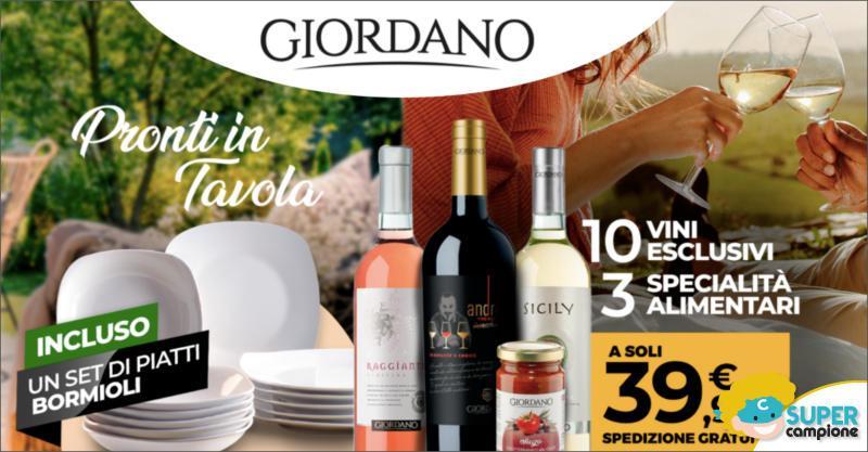 Giordano Vini: 10 vini, 3 specialità alimentari e gratis set di 12 piatti