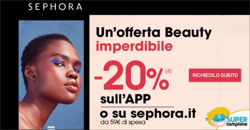 Sephora: buono sconto 20%
