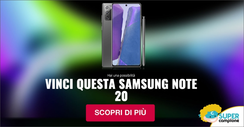 Vinci gratis Samsung Note 20
