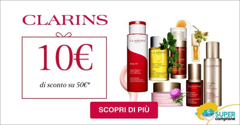 Buono sconto Clarins 10€