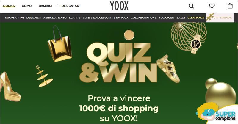 Yoox: vinci gratis shopping da 1000€