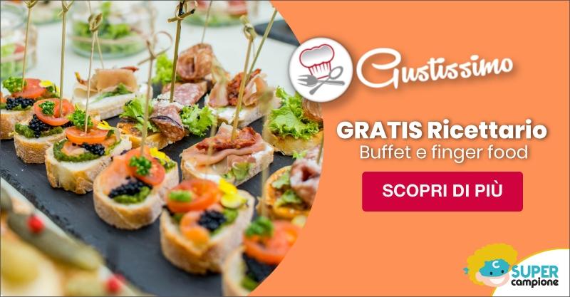 Omaggio ricettario Finger food e Buffet di Gustissimo