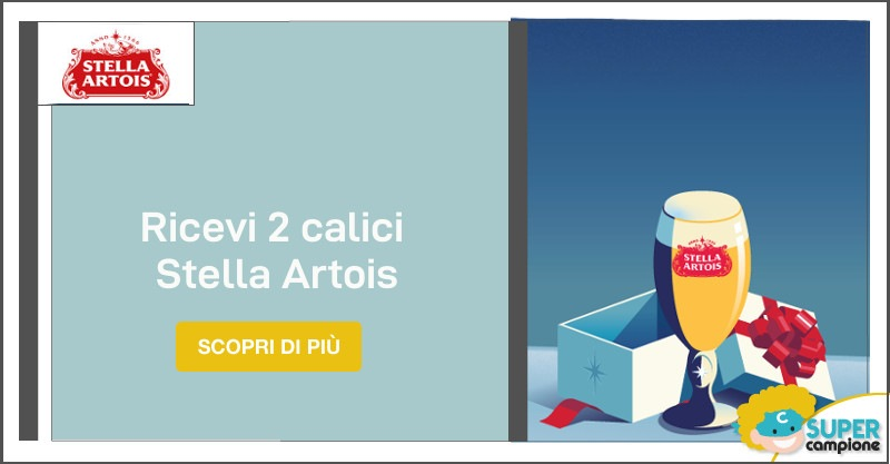 Ricevi 2 calici Stella Artois limited edition