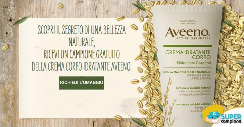 Campioni omaggio Aveeno crema idratante corpo