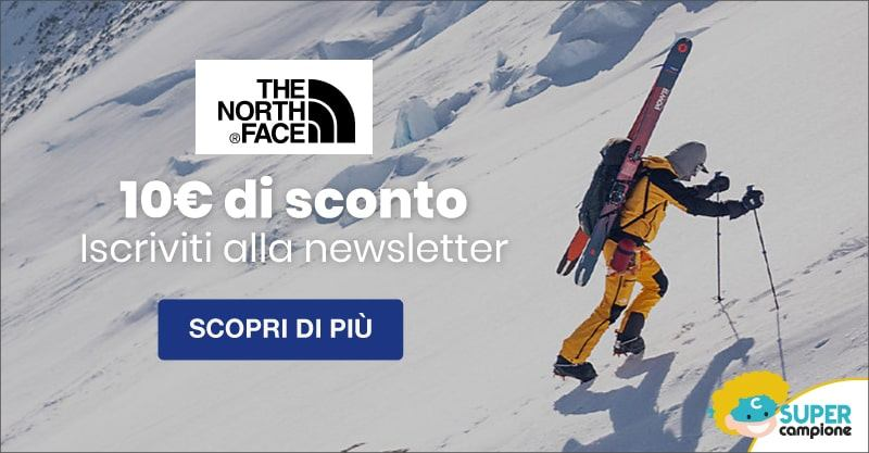 The North Face: ricevi 10€ di sconto