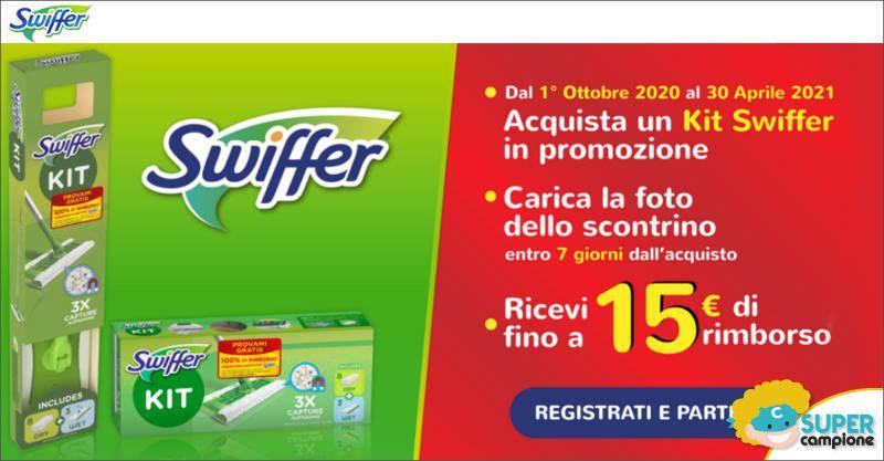 Prova gratis Swiffer: ricevi il 100% del rimborso