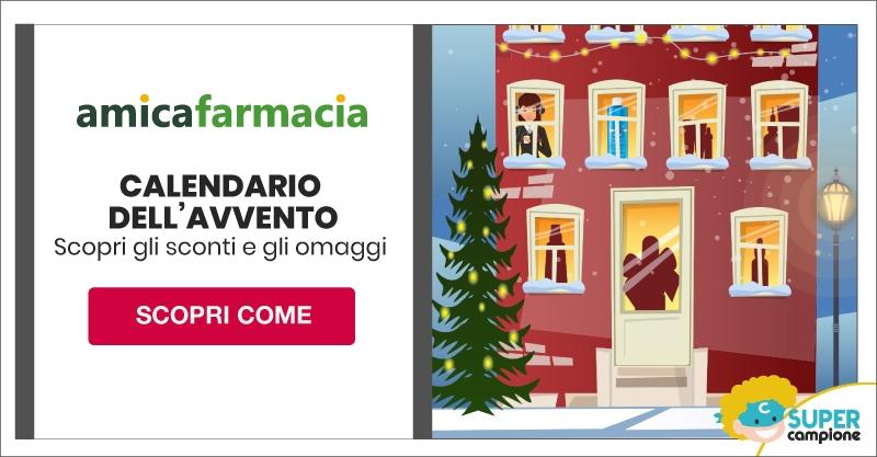 Omaggi e Sconti con il calendario dell'avvento Amica Farmacia
