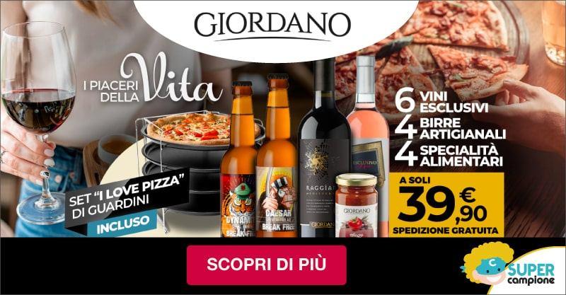 Giordano Vini: 6 vini 4 birre e incluso un kit pizza