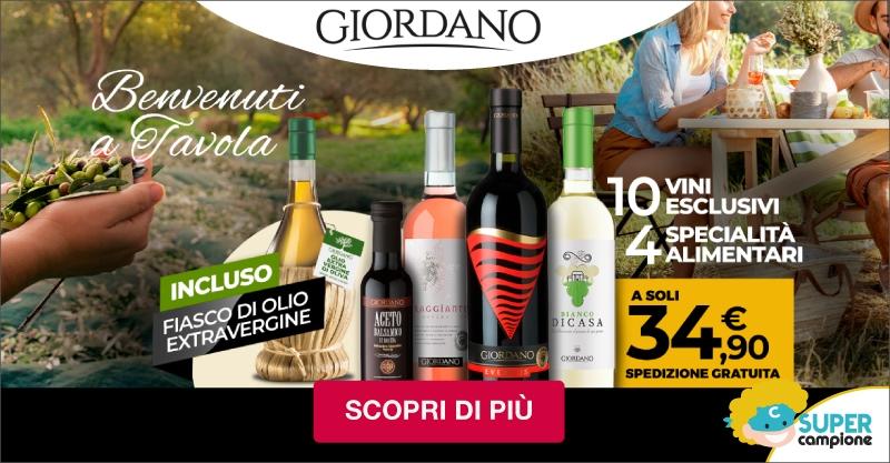 Giordano Vini: 10 vini 4 specialità artigianali e incluso un fiasco di olio extravergine