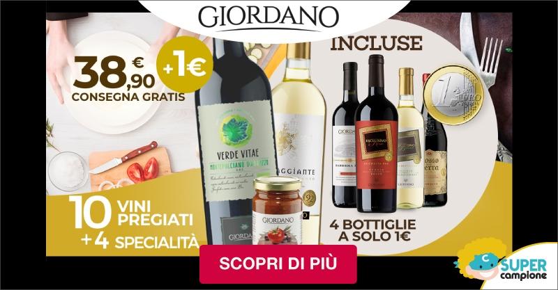 Giordano Vini: 10 vini pregiati, 4 specialità alimentari e 4 bottiglie a solo 1€