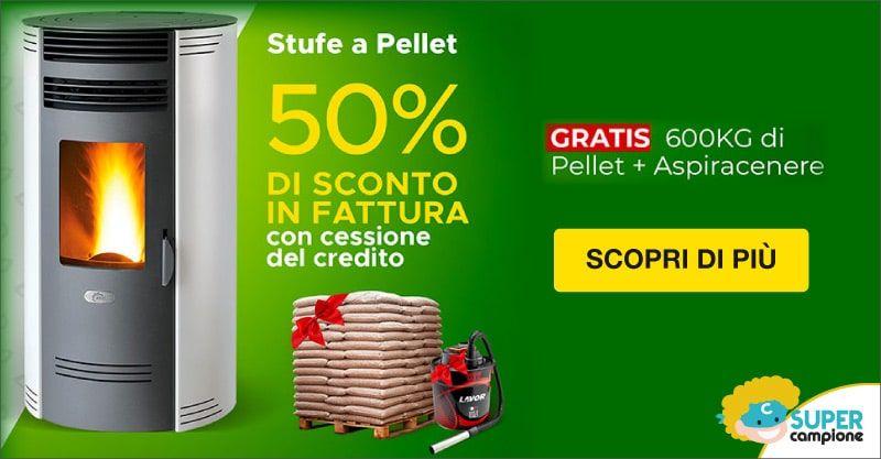Ariel: offerta stufa a pellet 50% sconto + omaggio