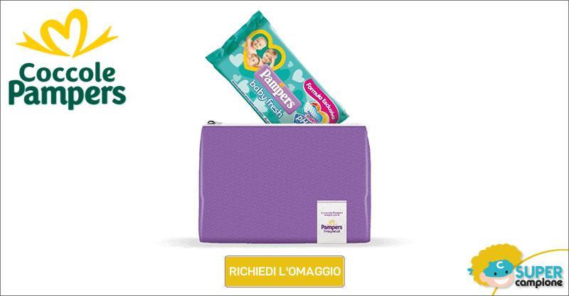 Pampers: omaggio pochette e salviette Baby Fresh