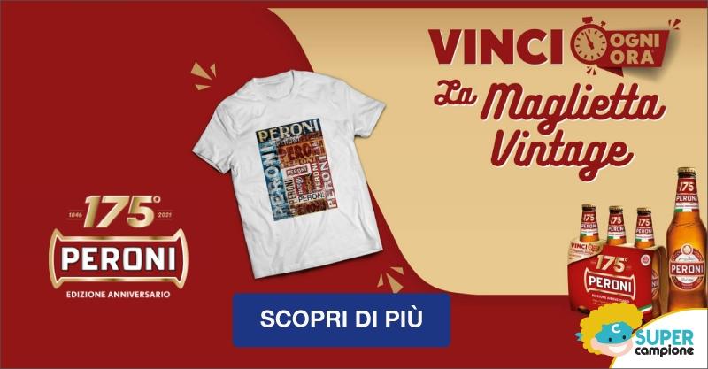 Vinci la maglietta vintage con Peroni