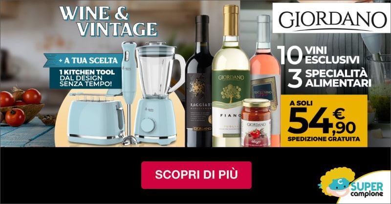Giordano Vini: 10 vini, 3 specialità e incluso un elettrodomestico vintage