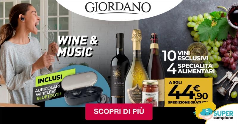 Giordano Vini: 10 vini, 4 specialità e incluse le auricolari wireless
