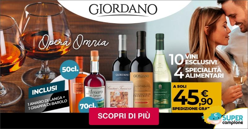 Giordano Vini: 10 vini, 4 specialità e inclusi una grappa al barolo ed un amaro di langa