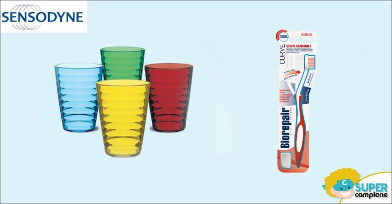 Sensodyne: premio sicuro 4 bicchieri Cosmoplast