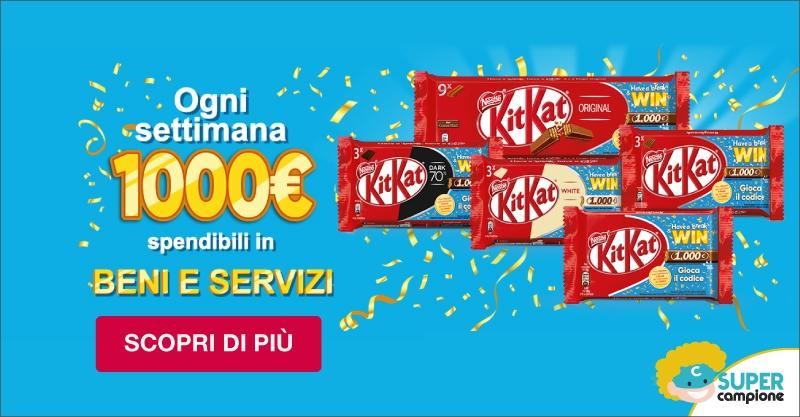 Gioca e Vinci 1000€ con Kitkat