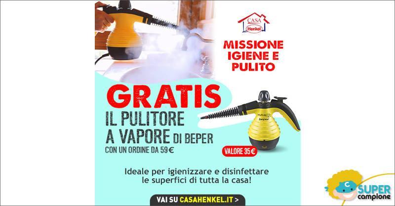 Casa Henkel: ricevi gratis pulitore a vapore Beper