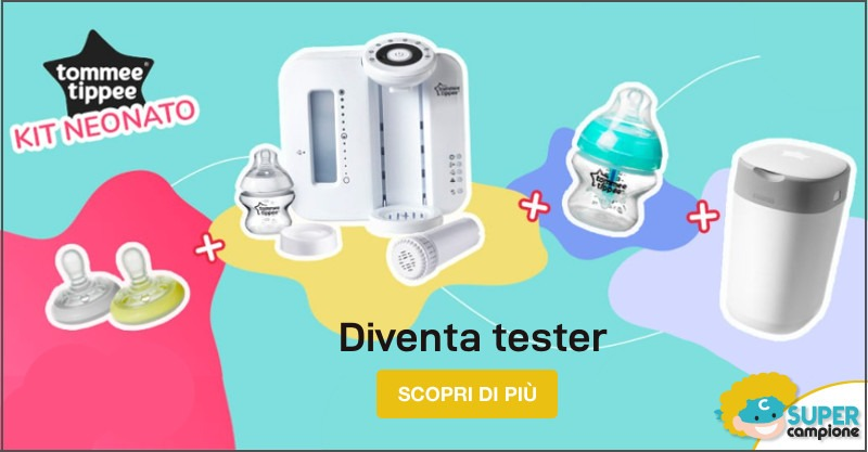 Diventa tester e ricevi il kit Tommee Tippee