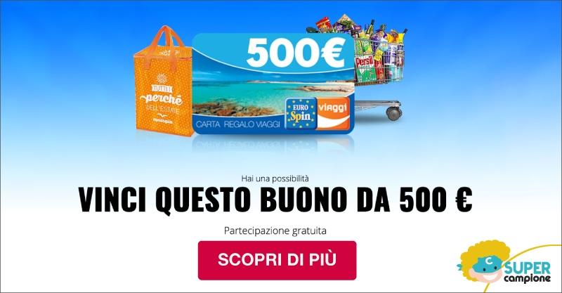 Vinci un buono Eurospin Viaggi da 500€