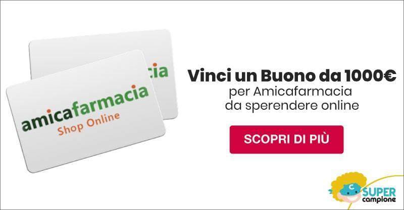 Vinci gratis un buono da 1000€ su Amicafarmacia