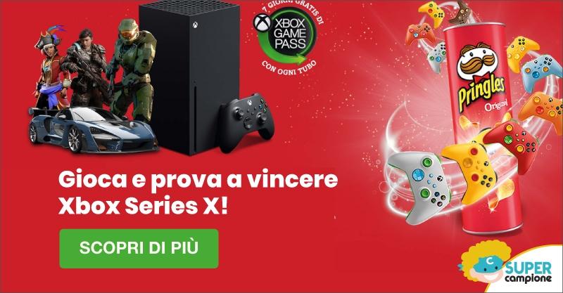 Gioca e vinci Xbox Series X con Pringles