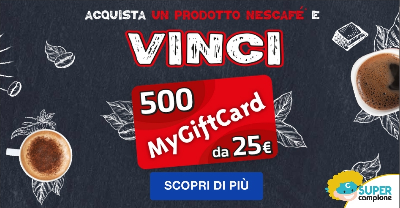 Vinci GiftCard da 25€ con Nescafè