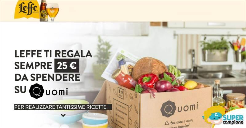 Leffe: ricevi come premio sicuro una box alimentare