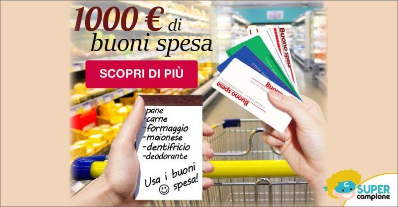 Vinci gratis 1000€ di buoni spesa al supermercato