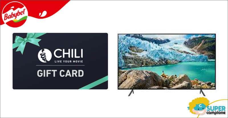 Babybel: vinci Gift Card CHILI e TV Samsung 4K