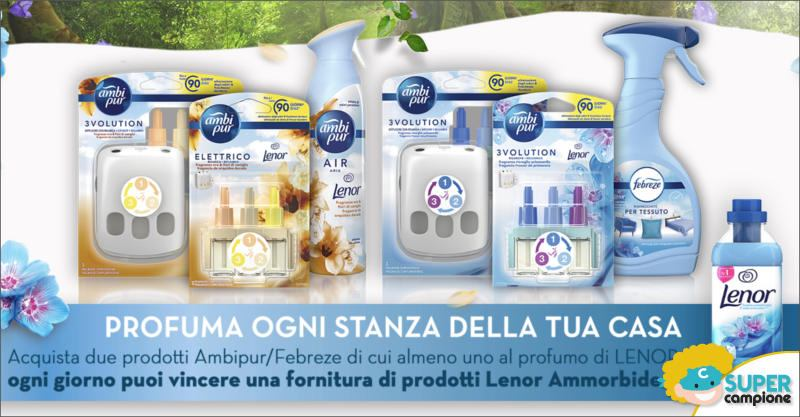 Ambipur: vinci forniture di Lenor Ammorbidente