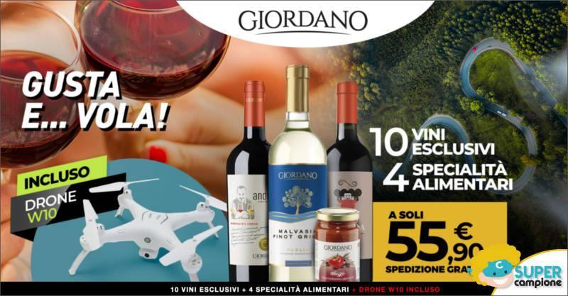 Giordano Vini: offerta vini + specialità + drone incluso