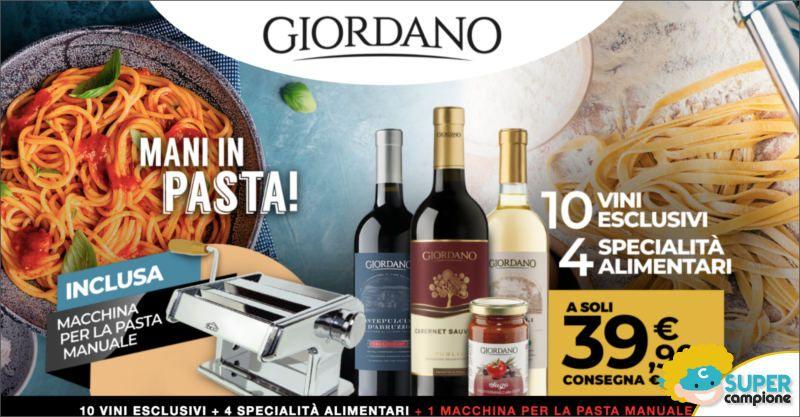 Giordano Vini: 10 vini, 4 specialità alimentari e inclusa una macchina per la pasta