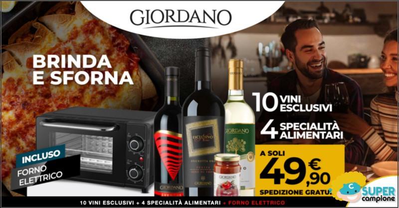 Giordano Vini: offerta vini + specialità + forno elettrico incluso