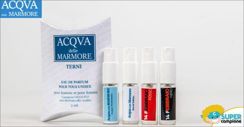 Campioni omaggio profumo Acqua delle Marmore