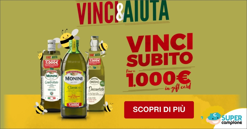 Vinci 1000€ gift card Monini