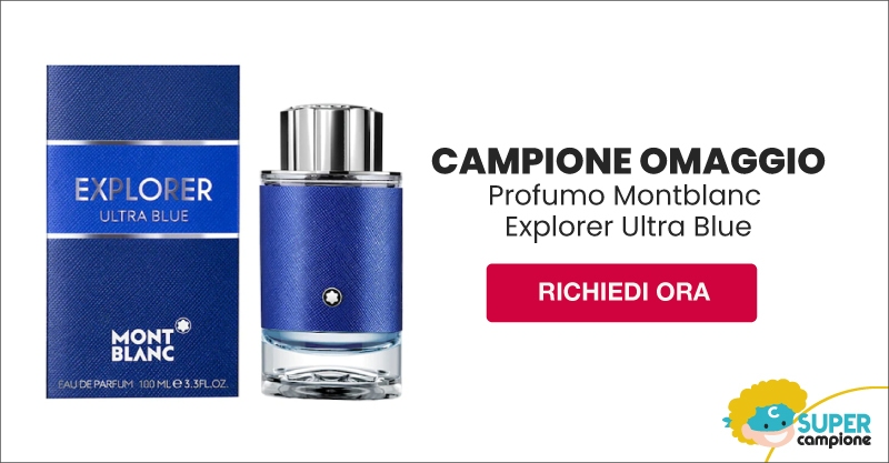 Campioni omaggio profumo Explorer Ultra Blue