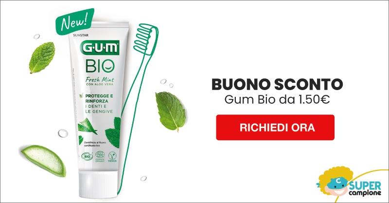 Buono sconto Gratis da 1,50€ dentifricio GUM® BIO