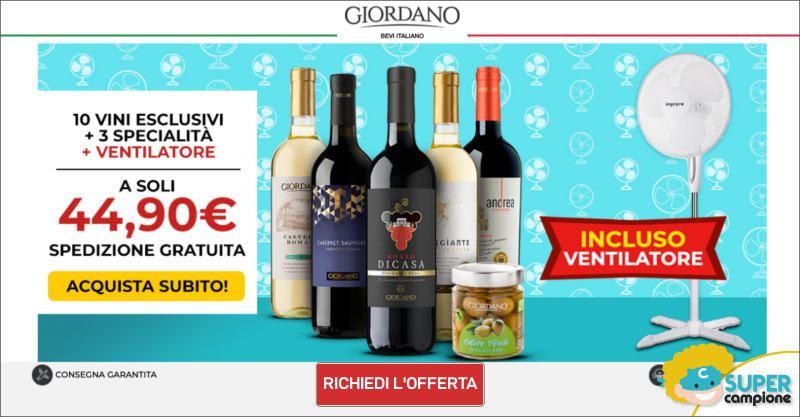 Giordano Vini: 10 vini, 3 specialità e incluso un ventilatore