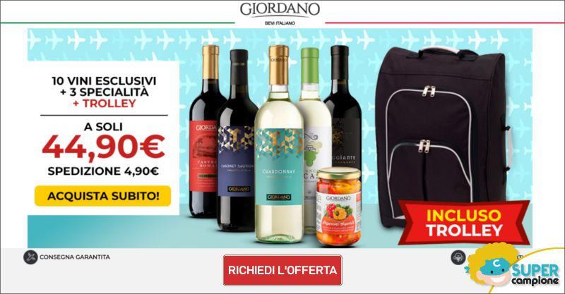 Giordano Vini: 10 vini, 3 specialità e trolley incluso