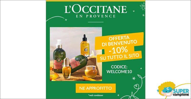 L'Occitane: offerta di benvenuto -10%