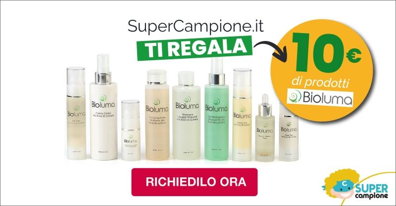 Ricevi gratis gift card da 10€ Bioluma cosmetici