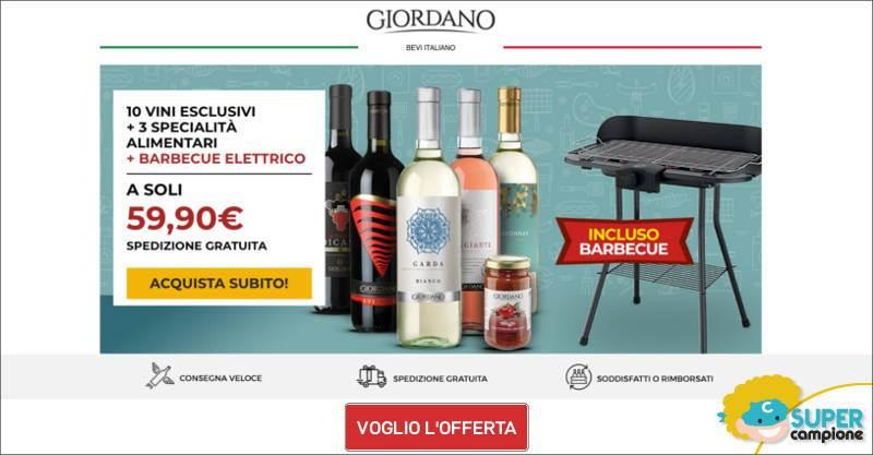 Giordano Vini: 10 vini, 3 specialità + incluso un barbecue elettrico
