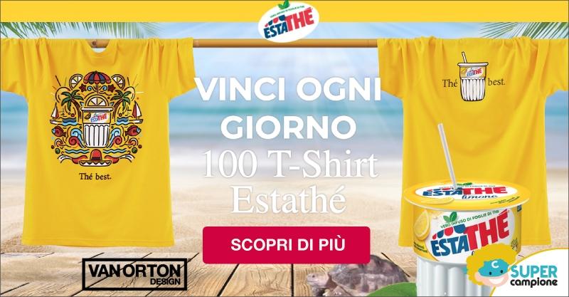 Vinci T-shirt firmata Van Orton con Estathé
